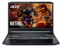 "Ноутбук Acer Nitro 5 AN515-55-779U Core i7 10750H/16Gb/SSD512Gb/NVIDIA GeForce RTX 2060 6Gb/15.6""/IPS/FHD (1920x1080)/Windows 10/black/WiFi/BT/Cam"