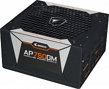 Блок питания Gigabyte ATX 750W AORUS GP-AP750GM 80+ gold 24+2x(4+4) pin APFC 135mm fan 6xSATA Cab Manag RTL